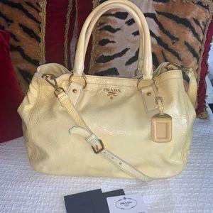 XL Prada patent leather 2 way bag
